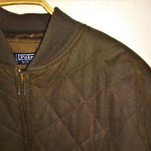 Vintage Polo by Ralph Lauren oiled puffer coat